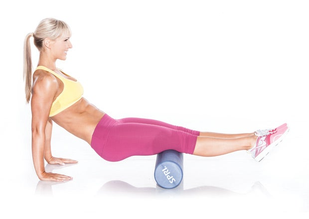 Foam Roller Hamstrings and Glutes