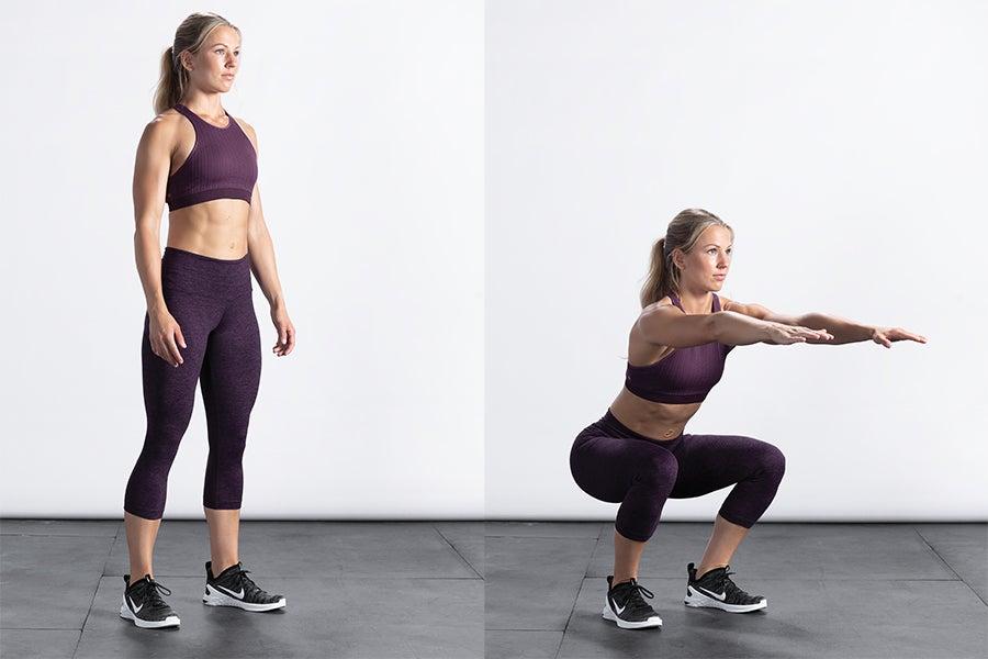 Woman air squat