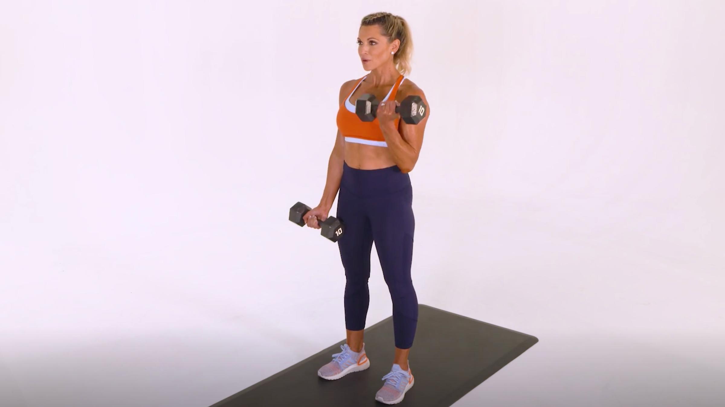 Alternating Dumbbell Biceps Curl