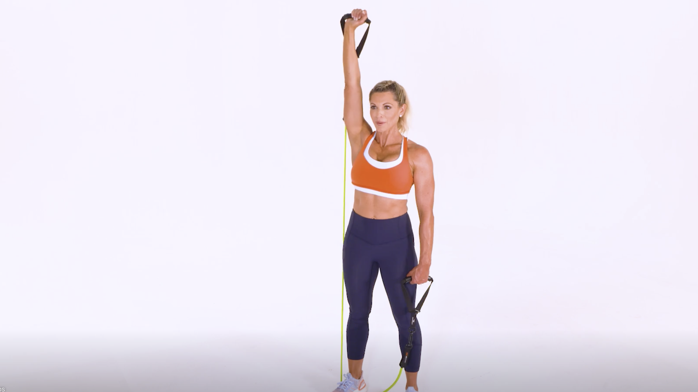 One-Arm Resistance-Band Overhead Press (Front Angle)
