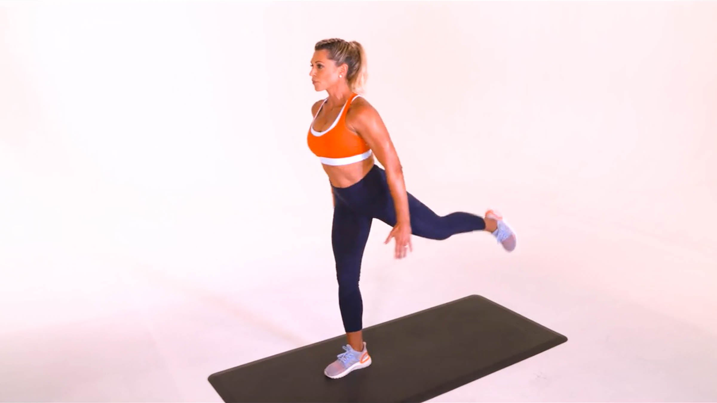 Stationary Lunge With Glute Lift