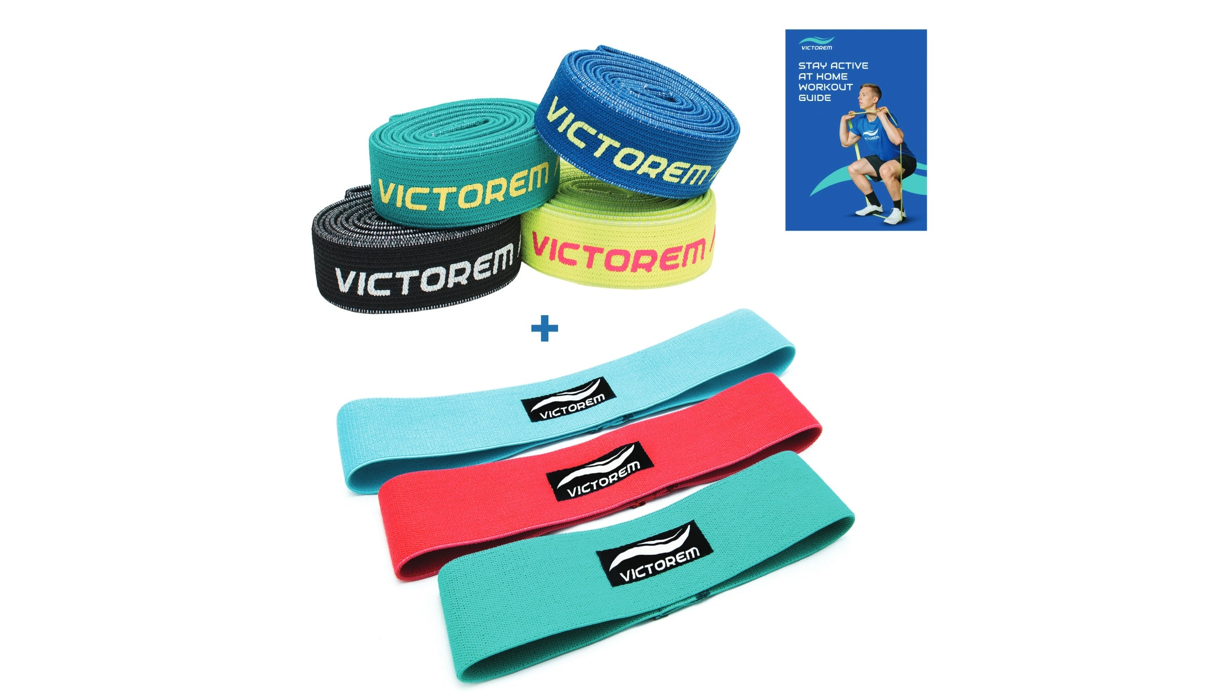 Assortment of resistance bands and straps