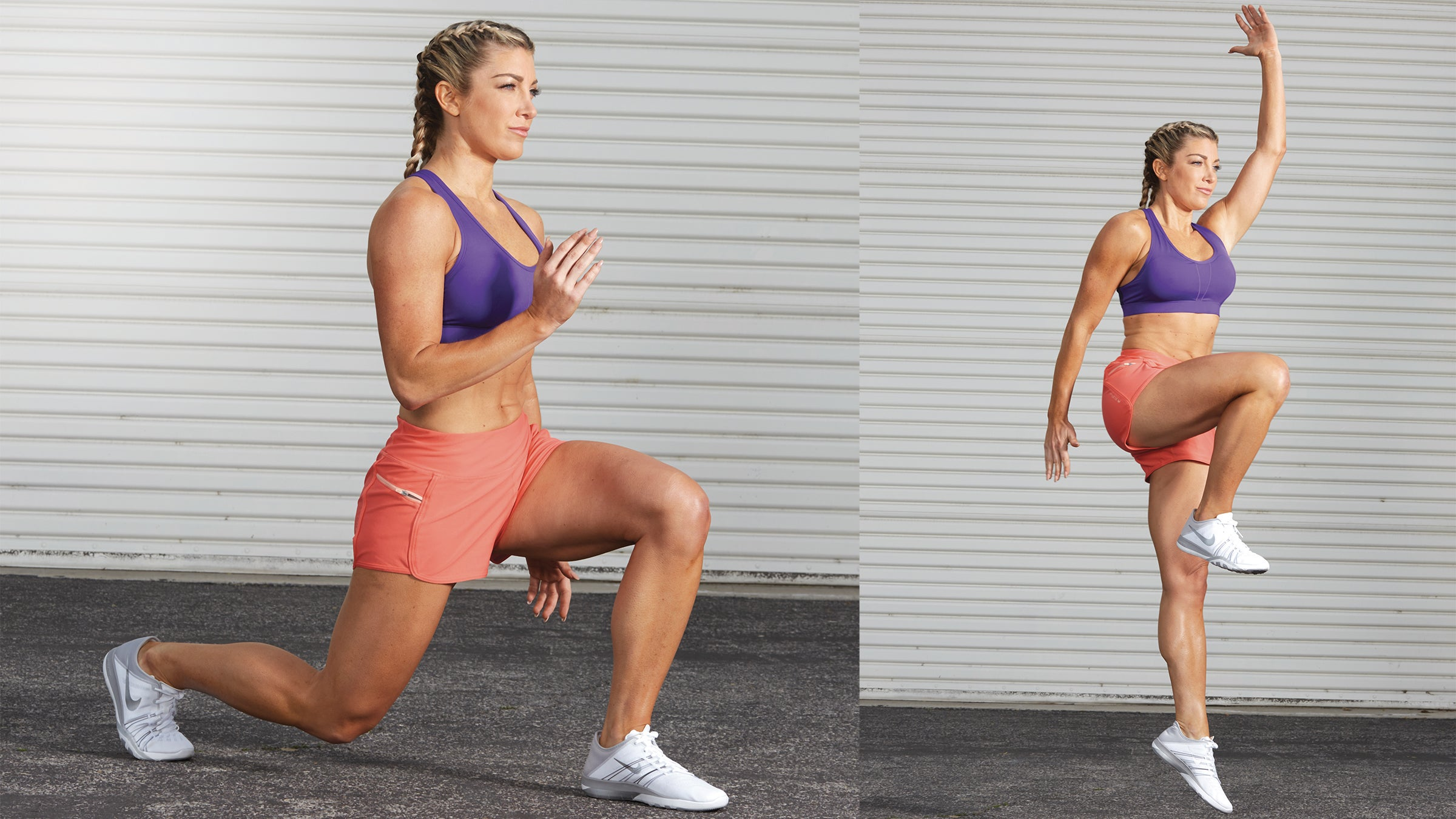 Reverse Lunge with Skip Up