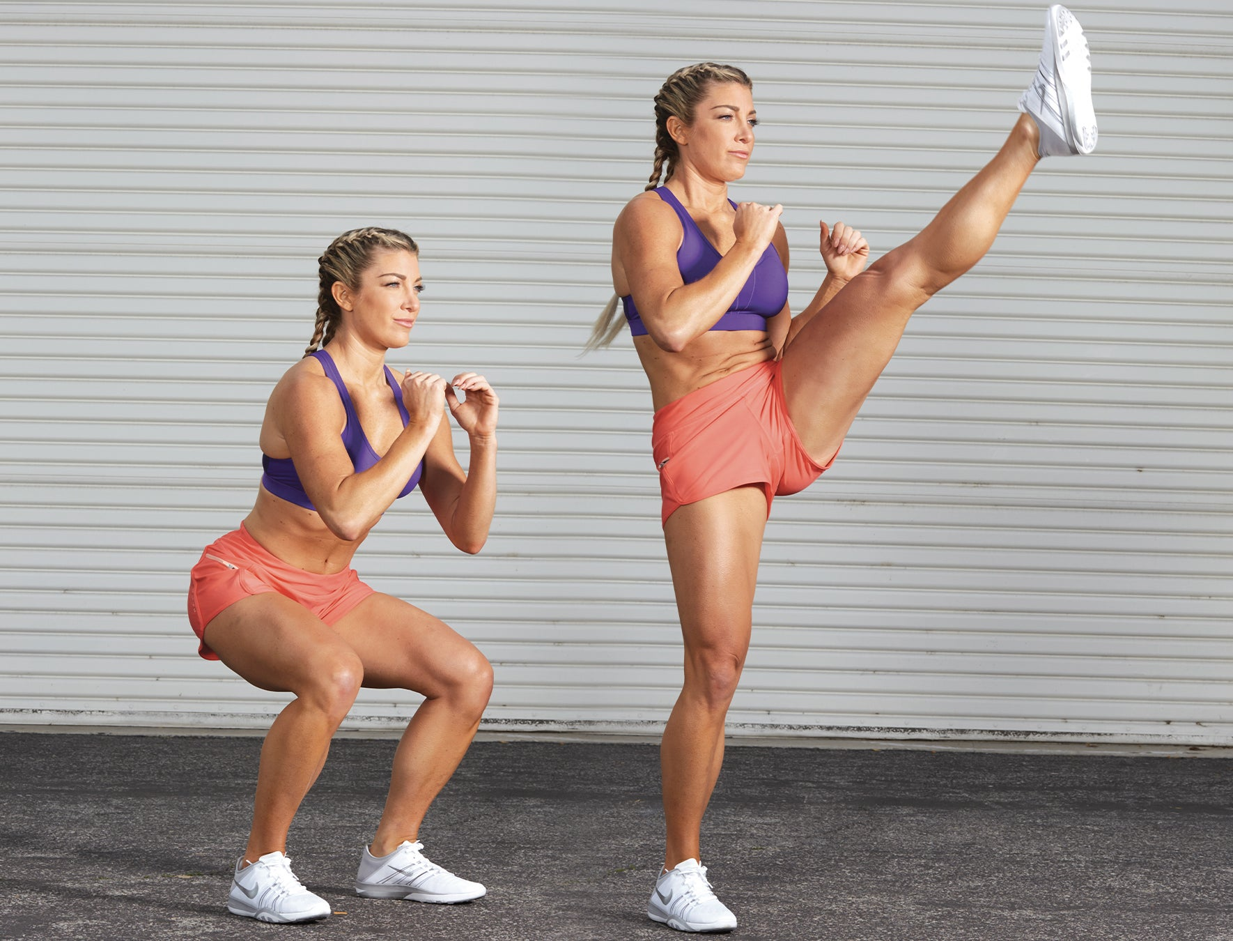 Squat with Front Kick