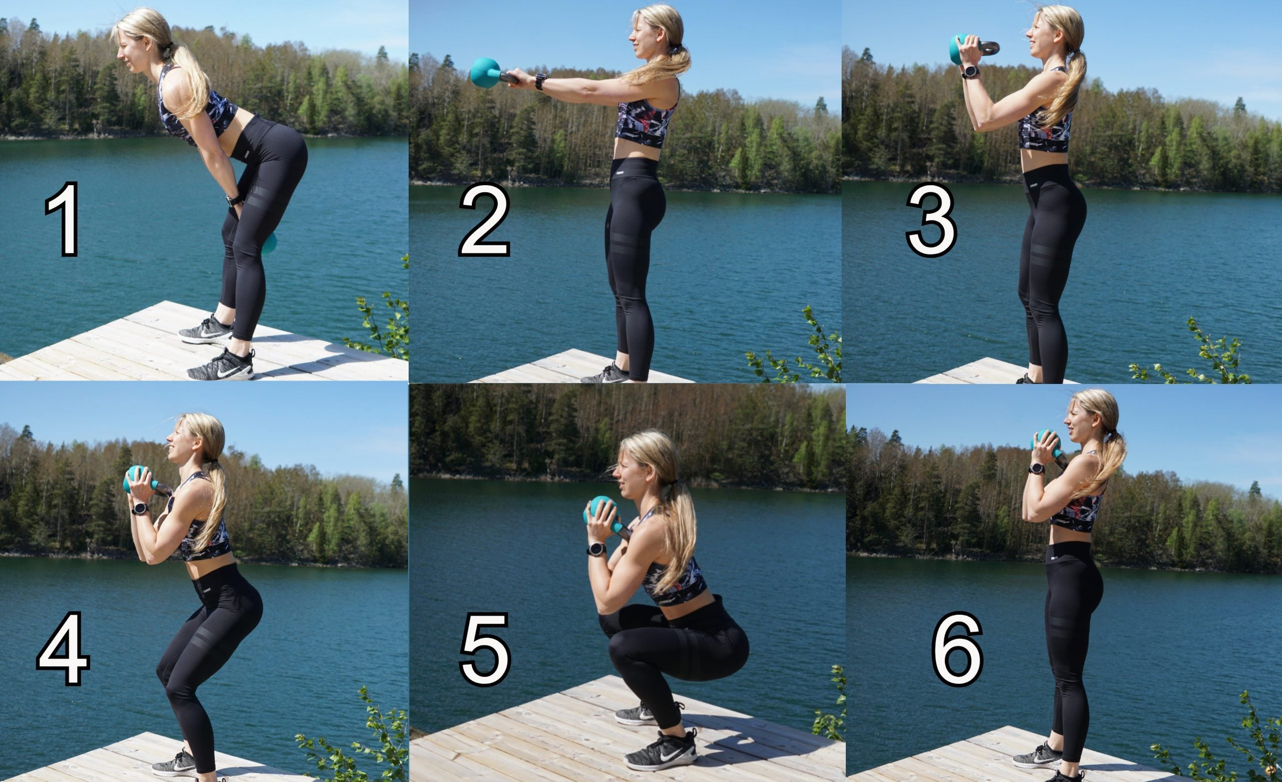Modified Kettlebell Swing to Squat