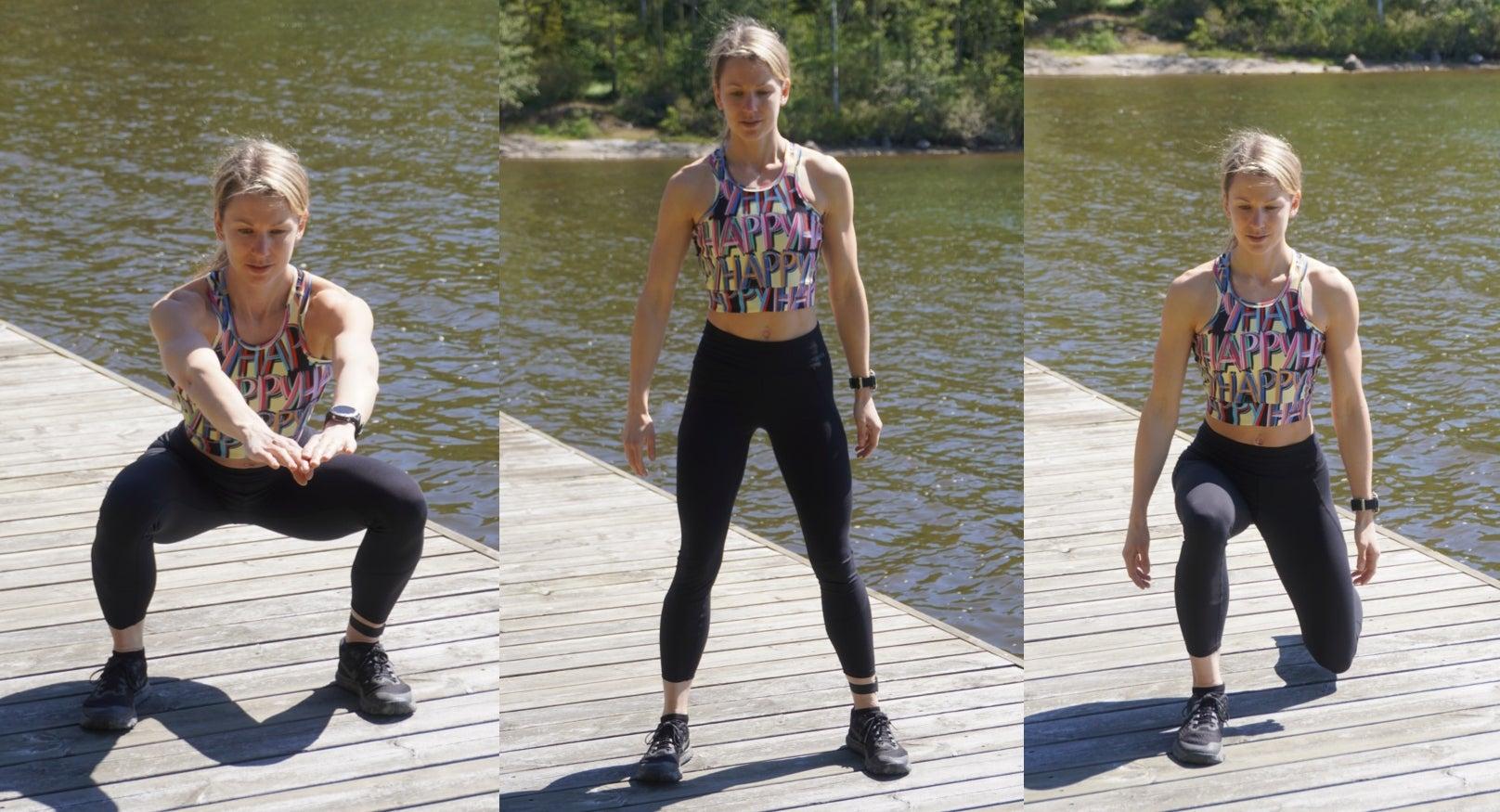 Sumo Squat to Lunge Exercise