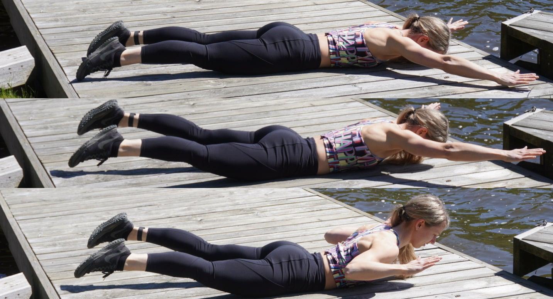 Superwoman Pulldown Exercise
