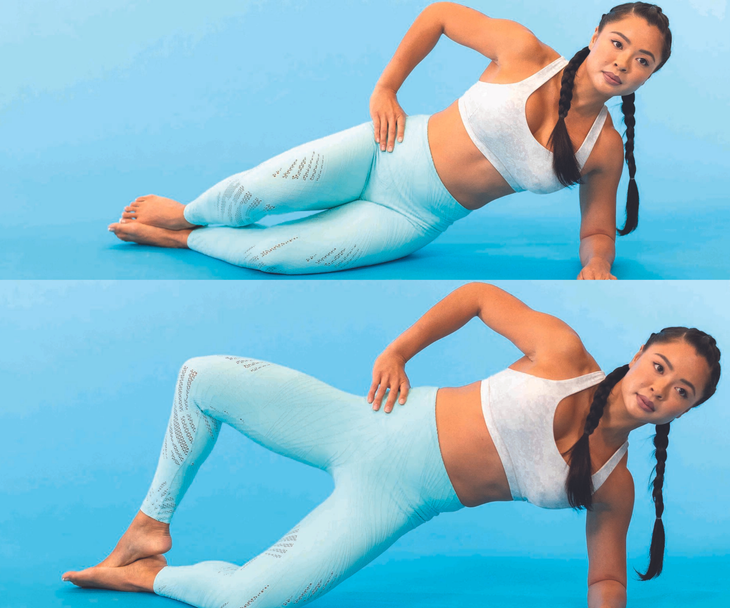 Clam side-plank hold
