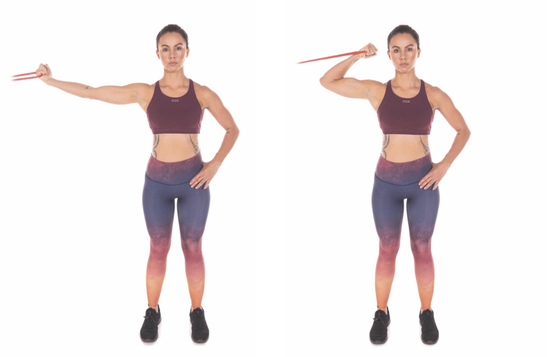 Resistance-Band One-Arm High Curl