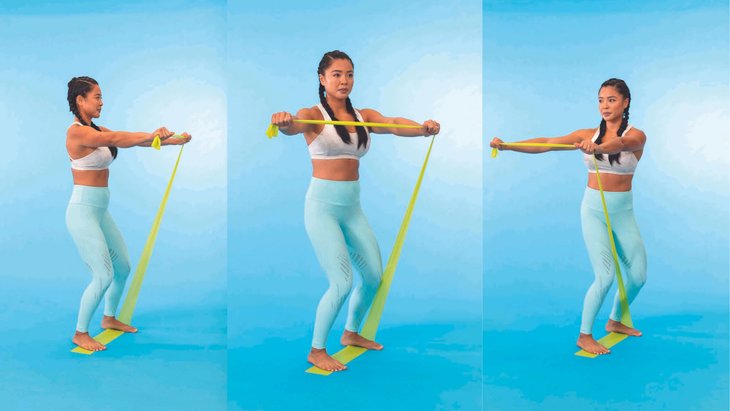 Standing Resistance Band Twist